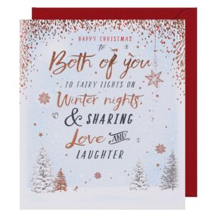 Merry & Bright Both of You Christmas Card