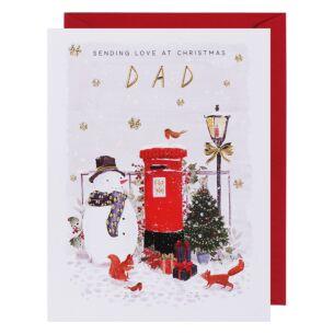 Mistletoe & Wine Dad Christmas Card
