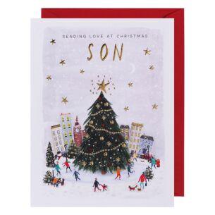 Mistletoe & Wine Son Christmas Card