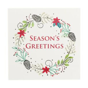 Laurel Wreath Pack of 6 Christmas Cards Charity Pack