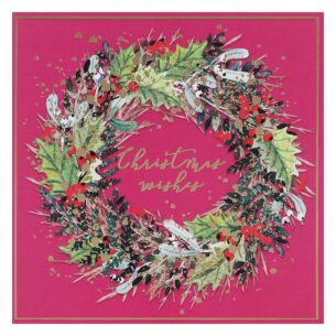 Wreath Pack of 6 Christmas Cards Charity Pack