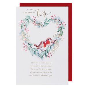 Snowdrops Wife Robin Christmas Card