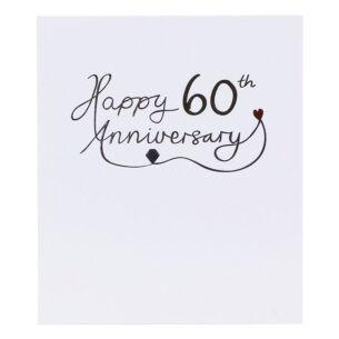 Mimosa 60th Wedding Anniversary Card