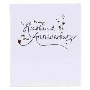 Mimosa Husband Anniversary Card