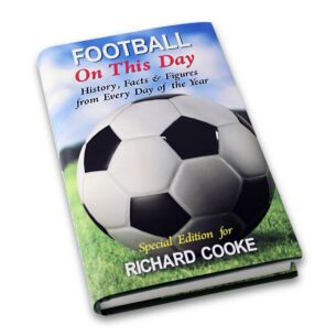 Personalised Football On This Day Hardback Book