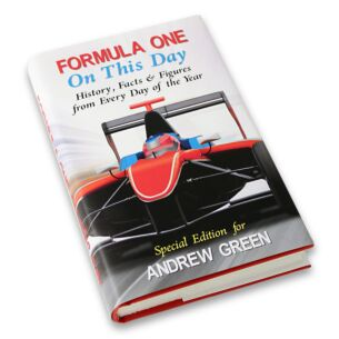 Personalised Formula One On This Day Book