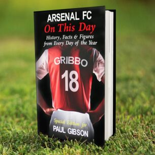 Personalised Arsenal On This Day Hardback Book