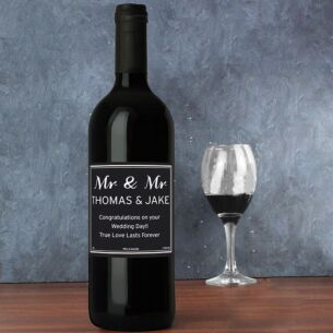 Personalised Bottle of Classic Red Wine
