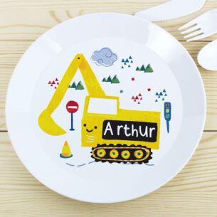 Personalised Plastic Digger Plate