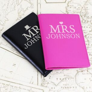 Personalised Mr and Mrs Passport Holders Set