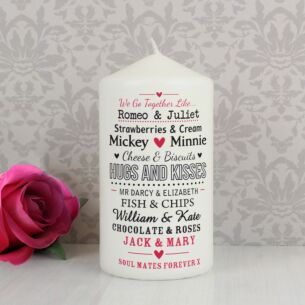 Personalised Couple's Candle