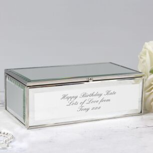 Personalised Mirrored Jewellery Box