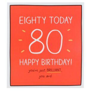 'Happy Birthday Eighty Today!' Card