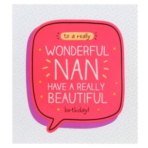 'Wonderful Nan Beautiful Birthday!' Card