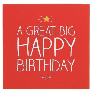 Big Happy Birthday Card