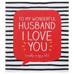 Wonderful Husband Valentine Card