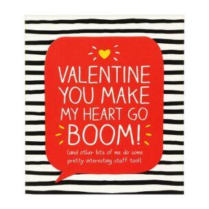 Make My Heart Go Boom Valentine Card