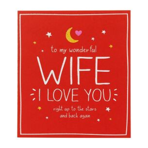 Wonderful Wife Valentine Card