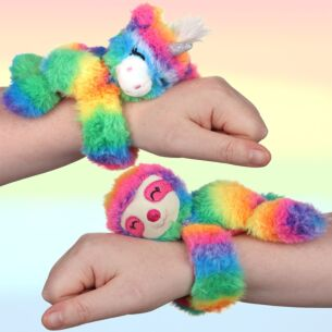 Assorted Rainbow Mini Huggler Snap Band