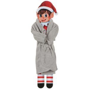 Elves Behavin Badly Miniature Elf Dressing Gown - Grey
