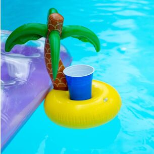 Inflatable Palm Tree Drink Holder