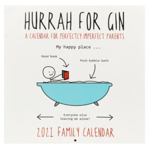 Hurrah for Gin 2021 Family Square Wall Calendar