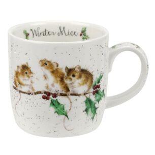Christmas Mug 'Winter Mice'