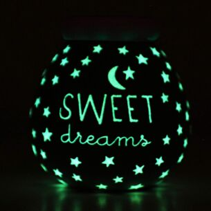 Sweet Dreams Blue Glow in the Dark Money Pot