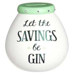 'Let The Savings Be Gin' Money Pot