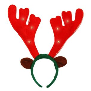 Christmas Reindeer Antlers with Lights and Music