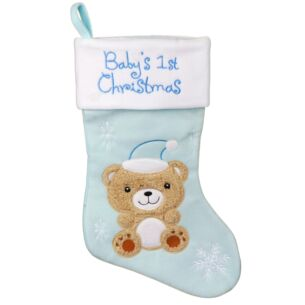 Blue Baby's 1st Christmas Stocking