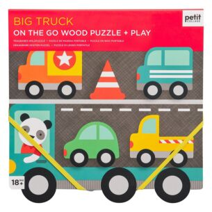 Petit Collage Wooden Puzzle & Play – Big Truck