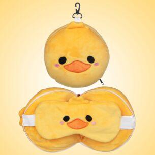 Resteazzz Cutiemals Ducks Travel Pillow & Eye Mask