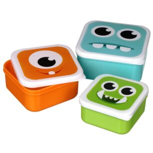 Monstarz Monster Set Of Three Lunch Boxes