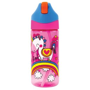 Unicorn Drink Bottle With Straw