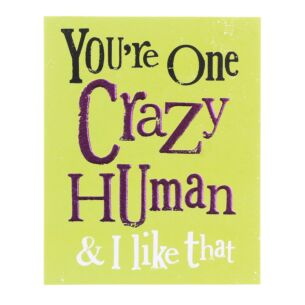 You're One Crazy Human & I Like That Greetings Card