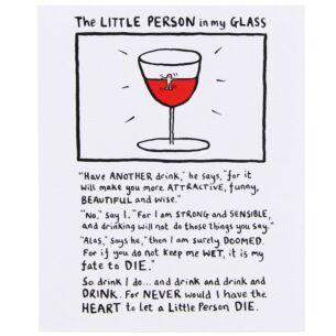 Edward Monkton Little Person In My Glass Card