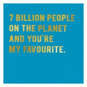 Cloud Nine 7 Billion People Card