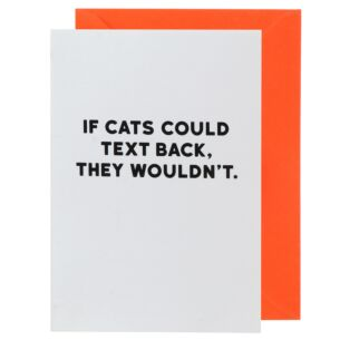 Holy Flaps 'If Cats Could Text Back' Card