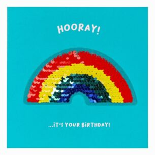 Shine Sequin Rainbow Birthday Card