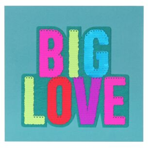 Shine Sequin Big Love Birthday Card