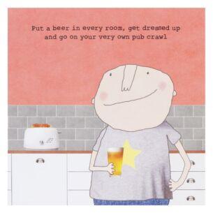 'Guys Pub Crawl' Lockdown Card