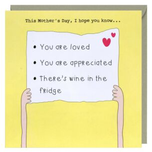 Rosie Made A Thing Wine in Fridge Mother's Day Card
