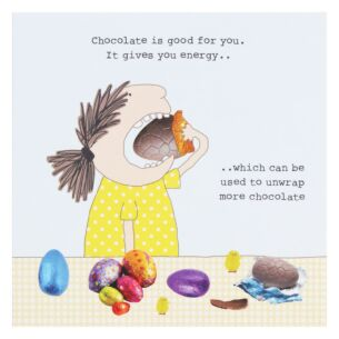 Rosie Made A Thing 'Chocolate Energy' Easter Card