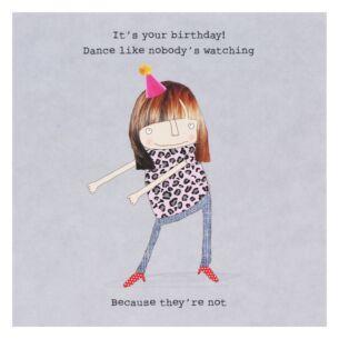 'Nobody's Watching' Lockdown Birthday Card