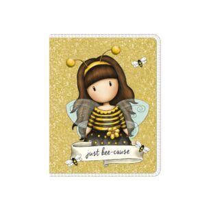 Gorjuss Bee-Loved Mini Glitter Notebook