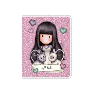 Gorjuss Tall Tails Mini Glitter Notebook