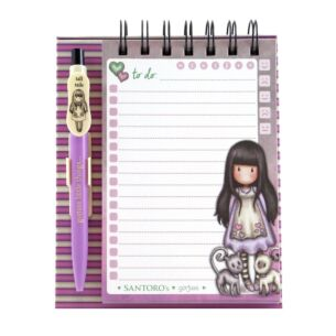 Gorjuss Tall Tails Standing Memo Pad with Pen