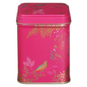 Square Pink Birds Tin