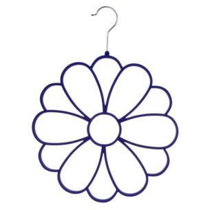 Blue Flower Scarf Holder